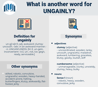 ungainly, synonym ungainly, another word for ungainly, words like ungainly, thesaurus ungainly
