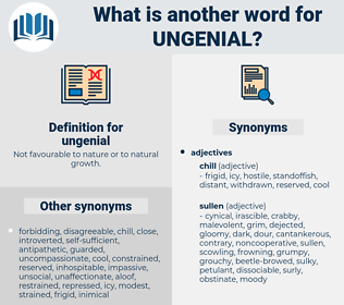 ungenial, synonym ungenial, another word for ungenial, words like ungenial, thesaurus ungenial