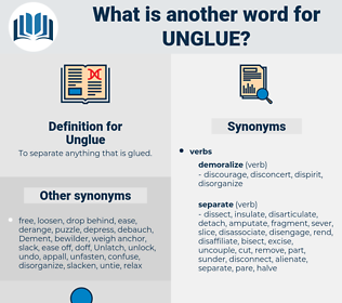 Unglue, synonym Unglue, another word for Unglue, words like Unglue, thesaurus Unglue