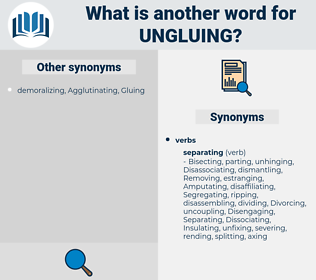 ungluing, synonym ungluing, another word for ungluing, words like ungluing, thesaurus ungluing