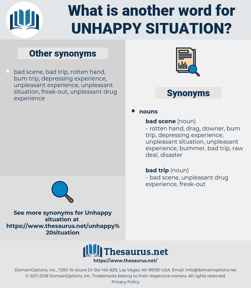 unhappy situation, synonym unhappy situation, another word for unhappy situation, words like unhappy situation, thesaurus unhappy situation