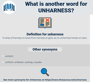 unharness, synonym unharness, another word for unharness, words like unharness, thesaurus unharness