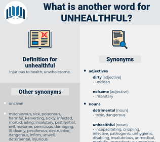unhealthful, synonym unhealthful, another word for unhealthful, words like unhealthful, thesaurus unhealthful