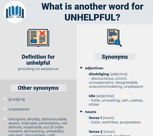 unhelpful, synonym unhelpful, another word for unhelpful, words like unhelpful, thesaurus unhelpful