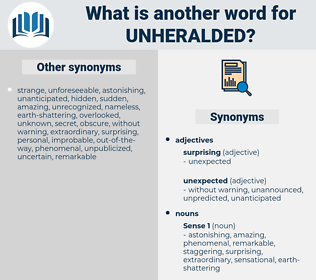 unheralded, synonym unheralded, another word for unheralded, words like unheralded, thesaurus unheralded