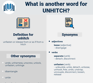 unhitch, synonym unhitch, another word for unhitch, words like unhitch, thesaurus unhitch