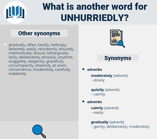 unhurriedly, synonym unhurriedly, another word for unhurriedly, words like unhurriedly, thesaurus unhurriedly