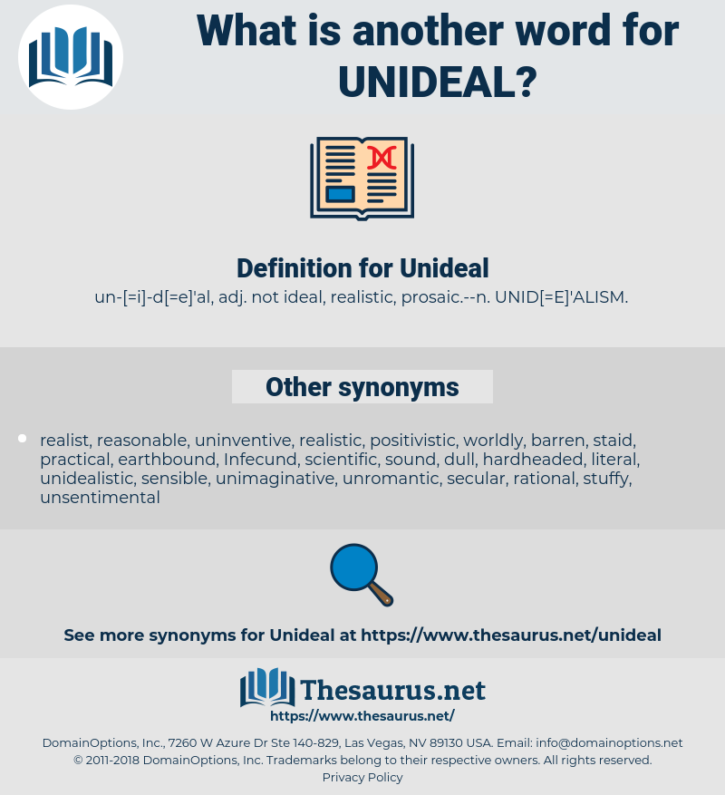Unideal, synonym Unideal, another word for Unideal, words like Unideal, thesaurus Unideal