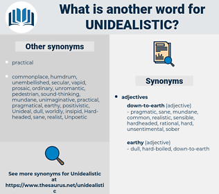 unidealistic, synonym unidealistic, another word for unidealistic, words like unidealistic, thesaurus unidealistic