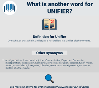 Unifier, synonym Unifier, another word for Unifier, words like Unifier, thesaurus Unifier