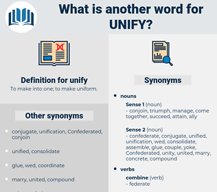 unify, synonym unify, another word for unify, words like unify, thesaurus unify