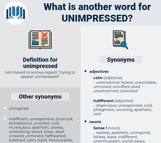 unimpressed, synonym unimpressed, another word for unimpressed, words like unimpressed, thesaurus unimpressed