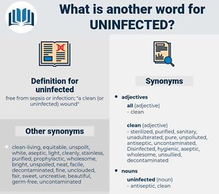 uninfected, synonym uninfected, another word for uninfected, words like uninfected, thesaurus uninfected