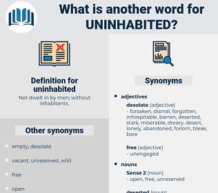 uninhabited, synonym uninhabited, another word for uninhabited, words like uninhabited, thesaurus uninhabited