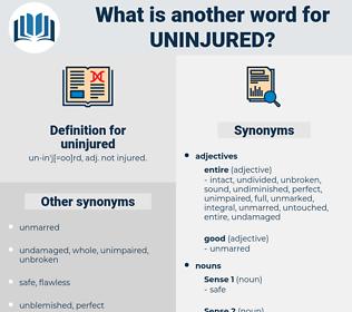 uninjured, synonym uninjured, another word for uninjured, words like uninjured, thesaurus uninjured