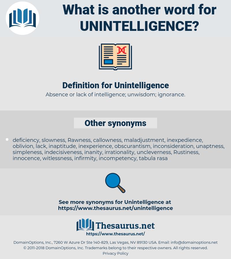 Unintelligence, synonym Unintelligence, another word for Unintelligence, words like Unintelligence, thesaurus Unintelligence