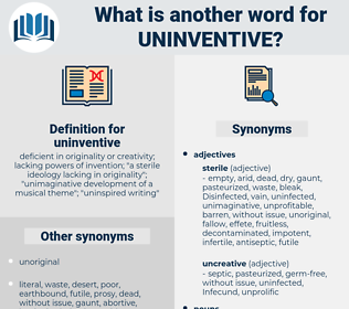 uninventive, synonym uninventive, another word for uninventive, words like uninventive, thesaurus uninventive