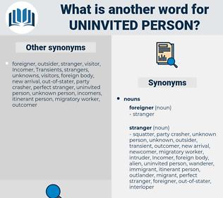 uninvited person, synonym uninvited person, another word for uninvited person, words like uninvited person, thesaurus uninvited person