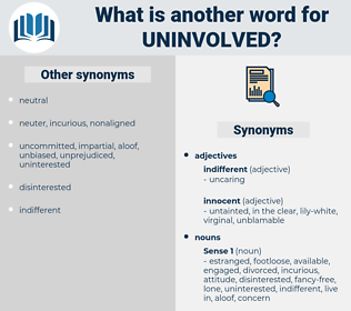 uninvolved, synonym uninvolved, another word for uninvolved, words like uninvolved, thesaurus uninvolved
