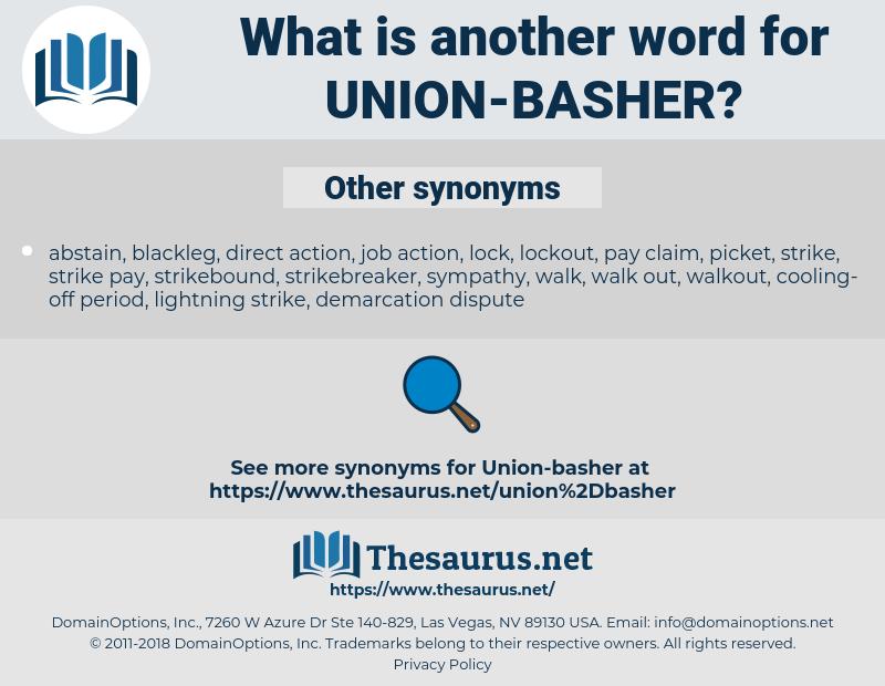 union-basher, synonym union-basher, another word for union-basher, words like union-basher, thesaurus union-basher