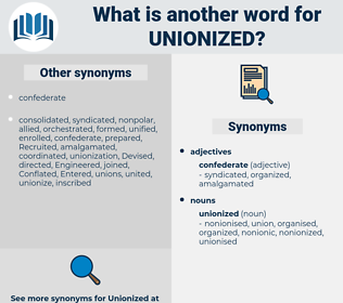 unionized, synonym unionized, another word for unionized, words like unionized, thesaurus unionized