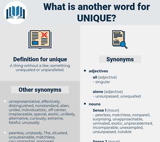 unique, synonym unique, another word for unique, words like unique, thesaurus unique