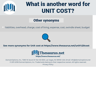 unit cost, synonym unit cost, another word for unit cost, words like unit cost, thesaurus unit cost