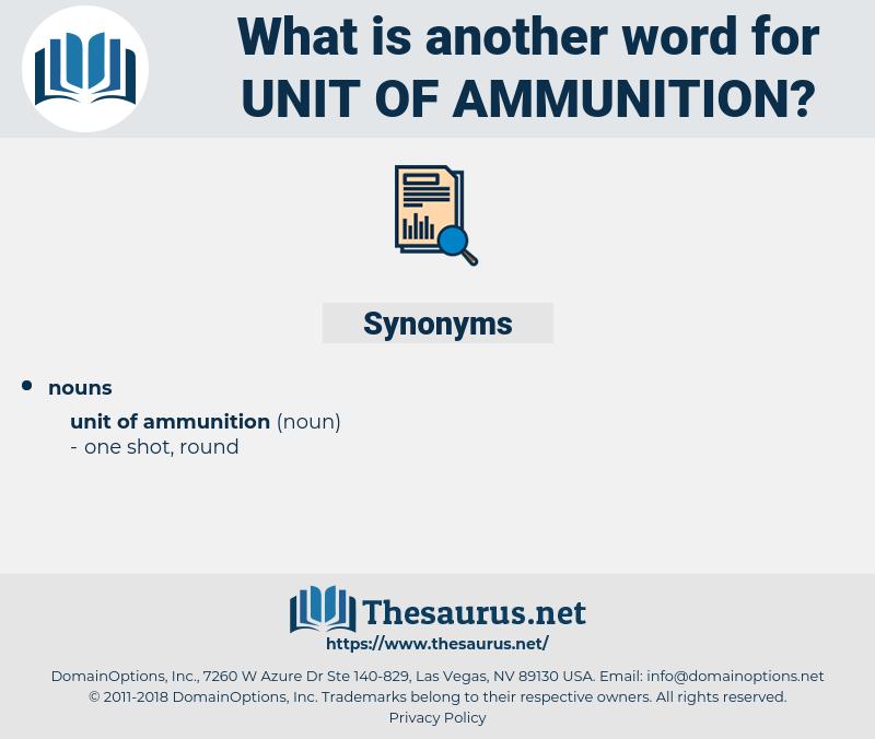 unit of ammunition, synonym unit of ammunition, another word for unit of ammunition, words like unit of ammunition, thesaurus unit of ammunition