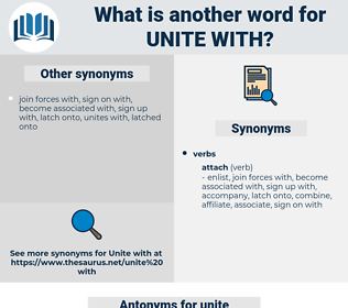 unite with, synonym unite with, another word for unite with, words like unite with, thesaurus unite with