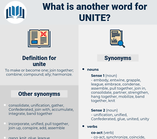 unite, synonym unite, another word for unite, words like unite, thesaurus unite