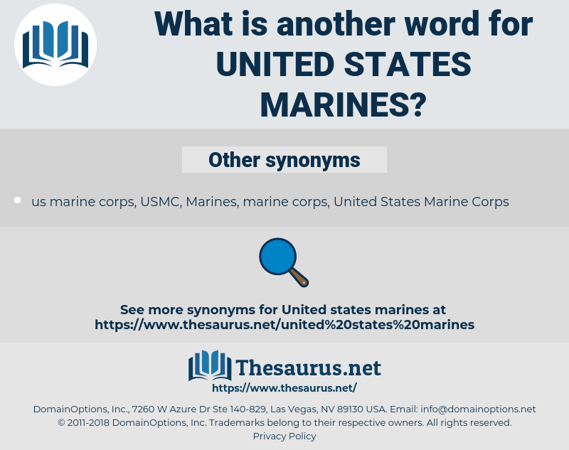 United States Marines, synonym United States Marines, another word for United States Marines, words like United States Marines, thesaurus United States Marines