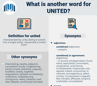 united, synonym united, another word for united, words like united, thesaurus united