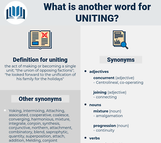 uniting, synonym uniting, another word for uniting, words like uniting, thesaurus uniting