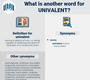 univalent, synonym univalent, another word for univalent, words like univalent, thesaurus univalent