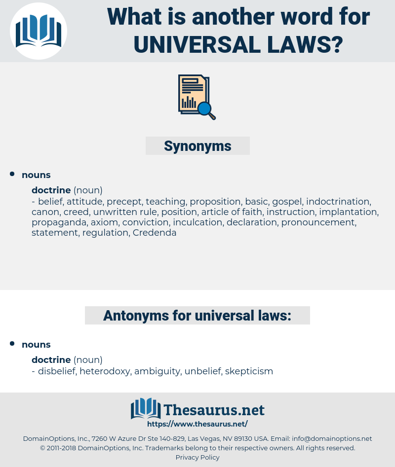 universal laws, synonym universal laws, another word for universal laws, words like universal laws, thesaurus universal laws