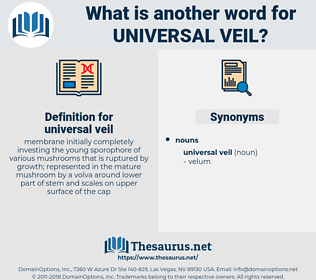 universal veil, synonym universal veil, another word for universal veil, words like universal veil, thesaurus universal veil