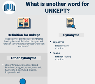 unkept, synonym unkept, another word for unkept, words like unkept, thesaurus unkept