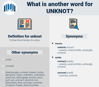unknot, synonym unknot, another word for unknot, words like unknot, thesaurus unknot