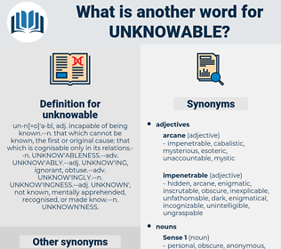 unknowable, synonym unknowable, another word for unknowable, words like unknowable, thesaurus unknowable