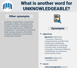 unknowledgeable, synonym unknowledgeable, another word for unknowledgeable, words like unknowledgeable, thesaurus unknowledgeable