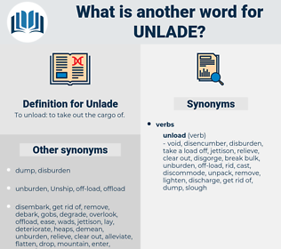 Unlade, synonym Unlade, another word for Unlade, words like Unlade, thesaurus Unlade