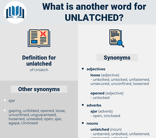 unlatched, synonym unlatched, another word for unlatched, words like unlatched, thesaurus unlatched