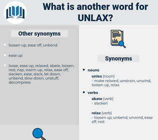 unlax, synonym unlax, another word for unlax, words like unlax, thesaurus unlax