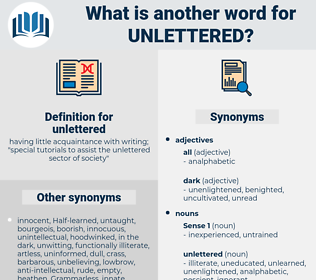 unlettered, synonym unlettered, another word for unlettered, words like unlettered, thesaurus unlettered