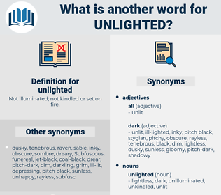 unlighted, synonym unlighted, another word for unlighted, words like unlighted, thesaurus unlighted