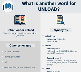 unload, synonym unload, another word for unload, words like unload, thesaurus unload
