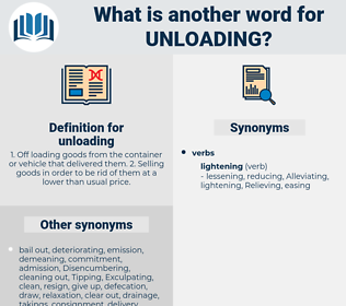 unloading, synonym unloading, another word for unloading, words like unloading, thesaurus unloading