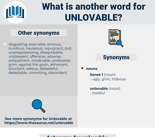 unlovable, synonym unlovable, another word for unlovable, words like unlovable, thesaurus unlovable