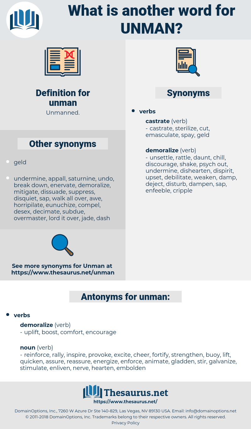 unman, synonym unman, another word for unman, words like unman, thesaurus unman