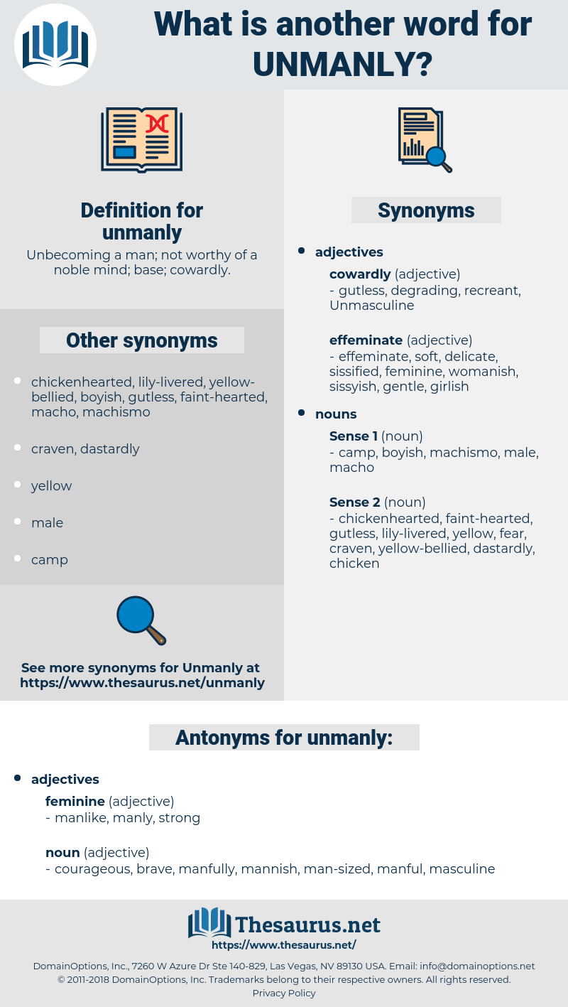 unmanly, synonym unmanly, another word for unmanly, words like unmanly, thesaurus unmanly